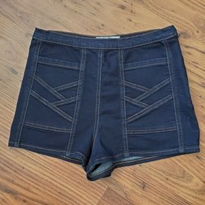 Free People Dark High Rise Side Zip Shorts Size 27